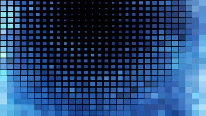 Abstract Black and Blue Square Pixel Mosaic Background