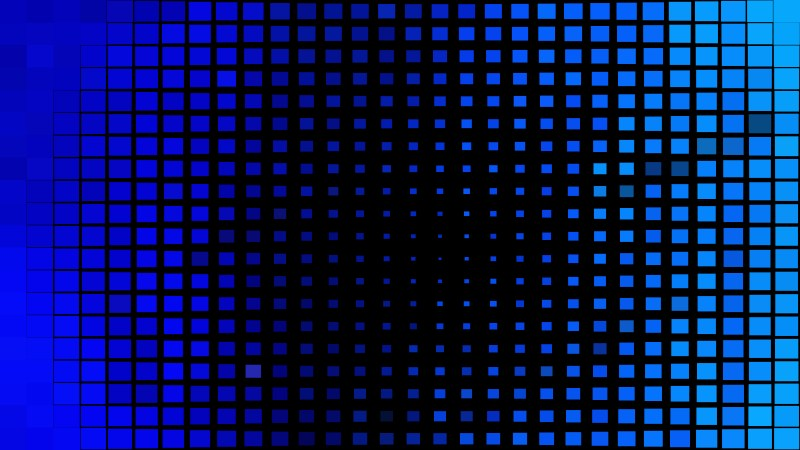 Black and Blue Square Pixel Mosaic Background