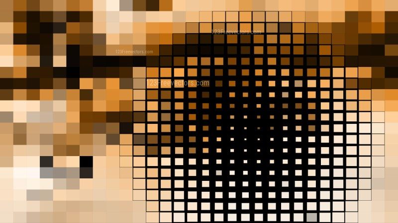 Black and Brown Square Mosaic Tile Background Illustration