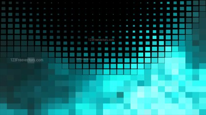 Black and Turquoise Square Mosaic Tile Background