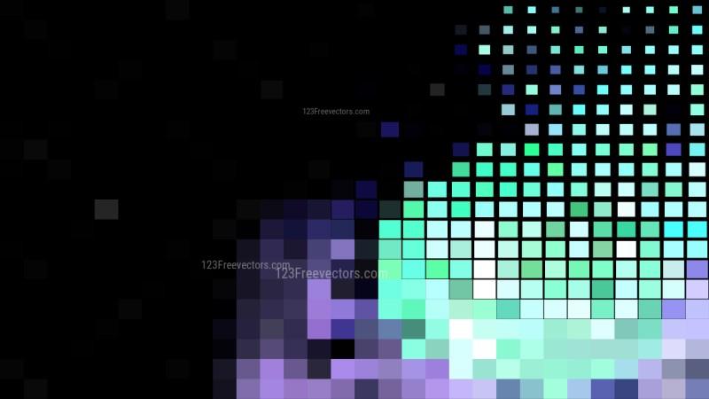 Black Purple and Green Geometric Mosaic Square Background