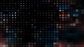 Abstract Black Red and Blue Square Mosaic Background