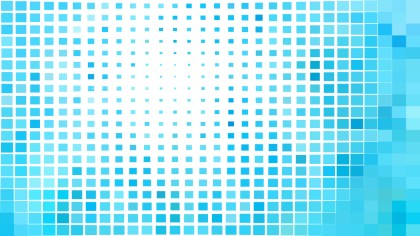 Abstract Blue and White Square Pixel Mosaic Background Vector Illustration