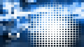 Blue and White Square Mosaic Background Vector