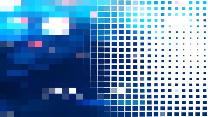 Blue and White Square Mosaic Tile Background Vector Art