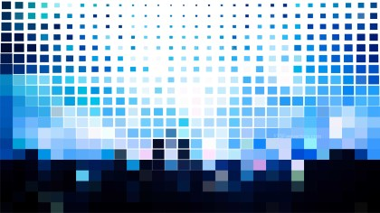 Abstract Blue Black and White Square Mosaic Tile Background