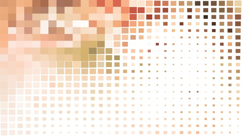 Brown and White Square Mosaic Tile Background