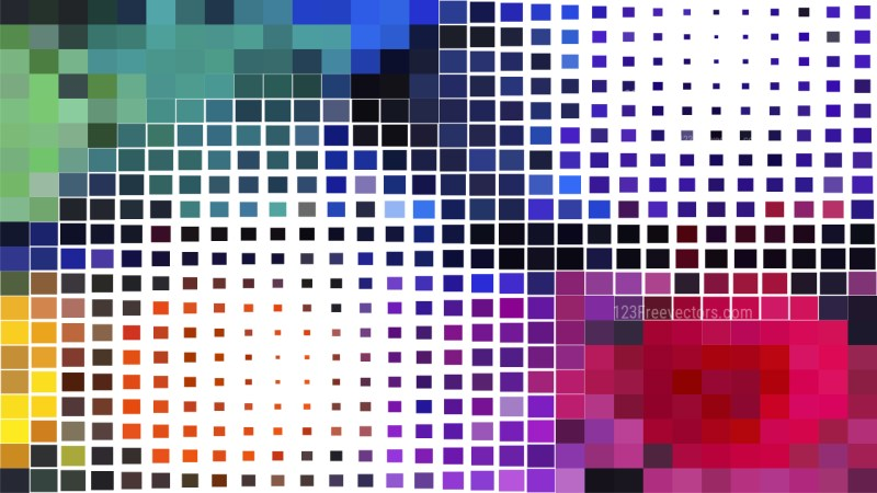 Colorful Square Mosaic Background Illustrator