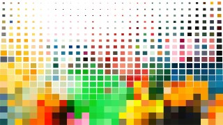Colorful Geometric Mosaic Square Background Vector