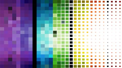 Colorful Square Pixel Mosaic Background Vector Art