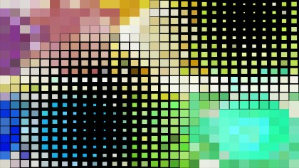Abstract Colorful Square Pixel Mosaic Background Vector Art