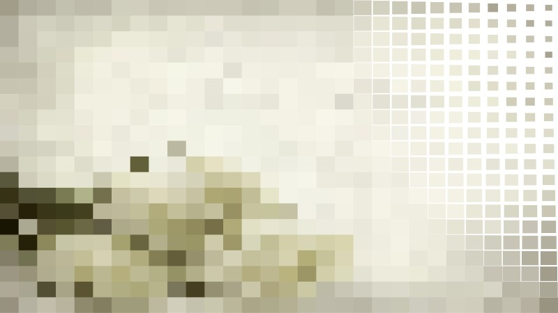 Green and Beige Square Pixel Mosaic Background Illustration