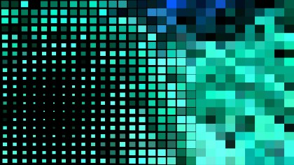 Abstract Green and Black Geometric Mosaic Square Background
