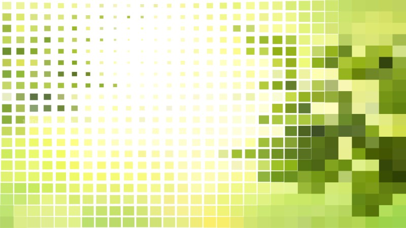 Abstract Green and White Square Pixel Mosaic Background
