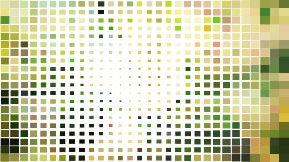 Abstract Green and White Square Mosaic Tile Background Vector Image