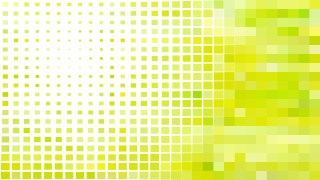 Abstract Green Yellow and White Geometric Mosaic Square Background Illustrator