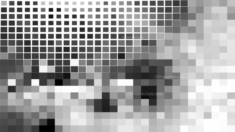 Grey and White Square Mosaic Background