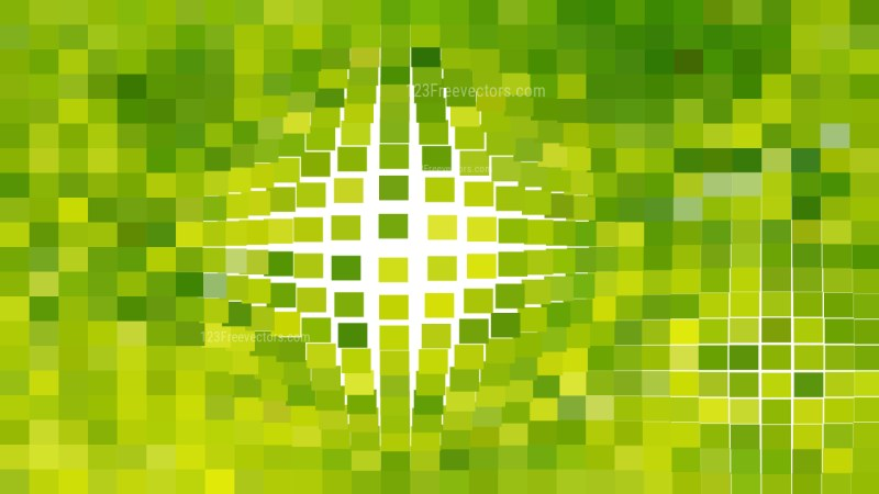 Abstract Lime Green Geometric Mosaic Square Background
