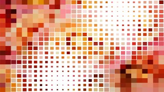 Abstract Orange and White Geometric Mosaic Square Background