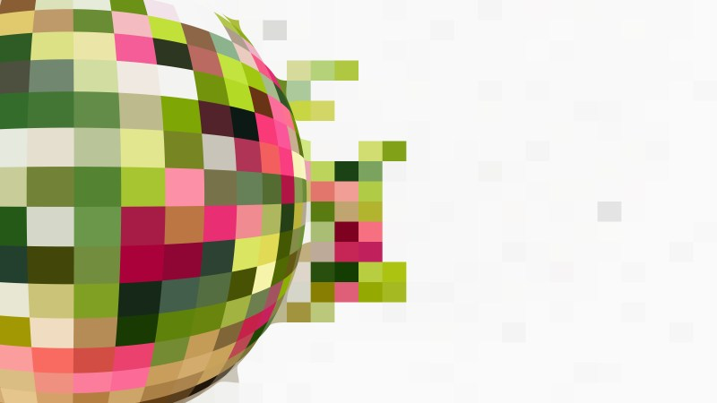 Pink Green and White Geometric Mosaic Square Background
