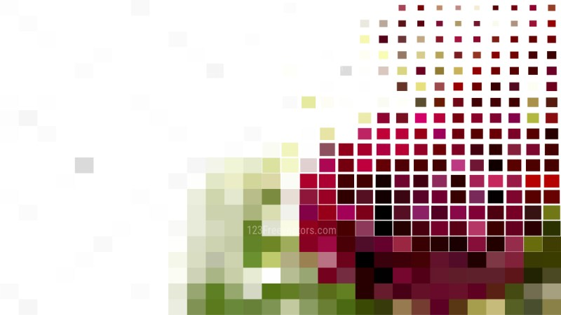 Pink Green and White Square Mosaic Tile Background