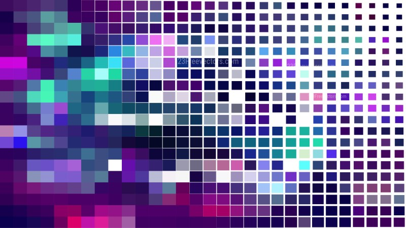 Abstract Purple Green and White Geometric Mosaic Square Background