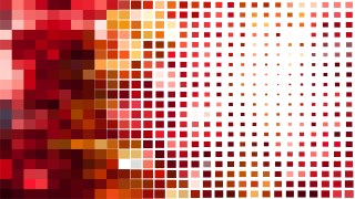 Abstract Red and White Square Pixel Mosaic Background Image