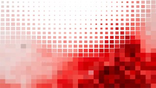 Red and White Square Mosaic Background