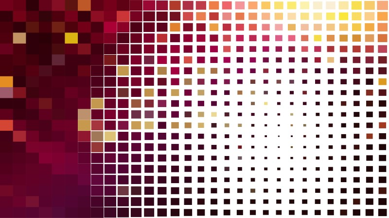 Red and White Geometric Mosaic Square Background Graphic