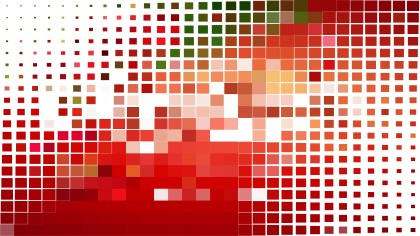 Abstract Red and White Square Mosaic Background Illustrator