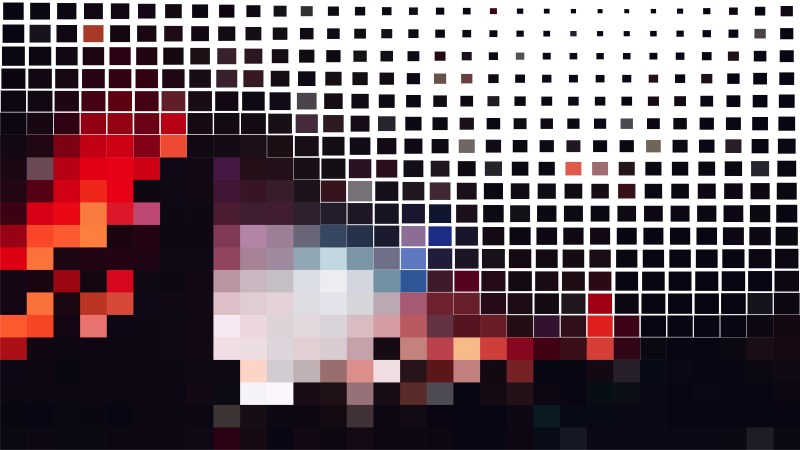 Abstract Red Black and White Square Mosaic Background