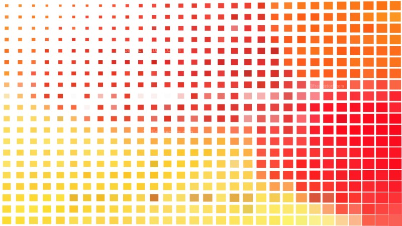 Red White and Yellow Square Pixel Mosaic Background