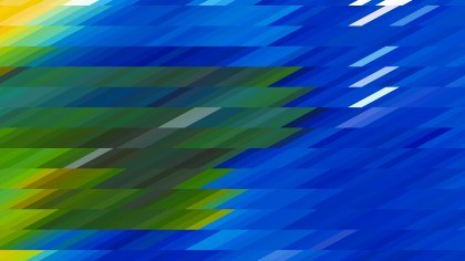 Blue and Green Geometric Shapes Background Vector