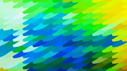Abstract Blue Green and Yellow Geometric Shapes Background