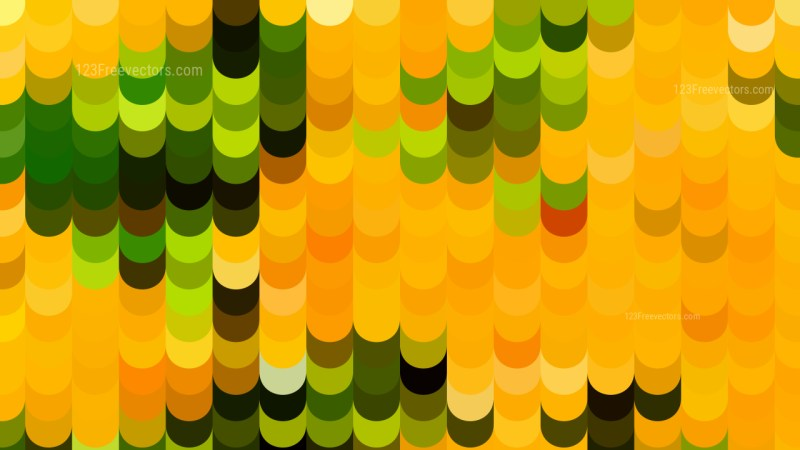 Abstract Orange and Green Geometric Shapes Background