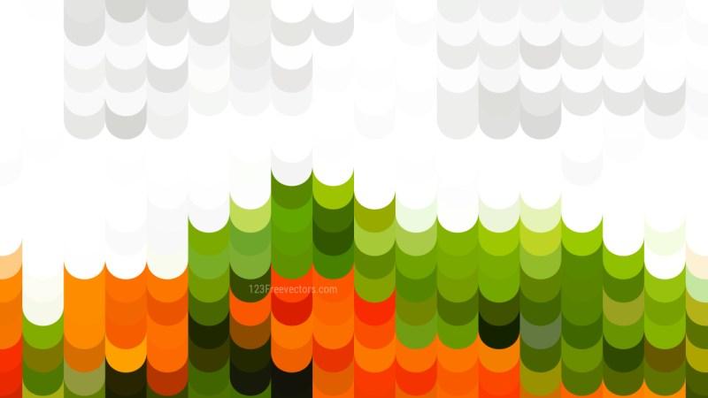 Orange White and Green Geometric Shapes Background