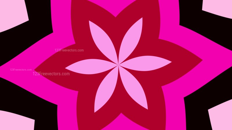 Pink and Black Geometric Shapes Background Design