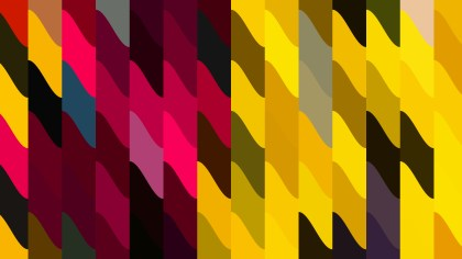 Abstract Pink Red and Yellow Geometric Shapes Background Design