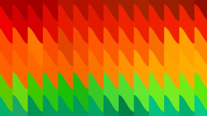 Abstract Red Green and Orange Geometric Shapes Background Design
