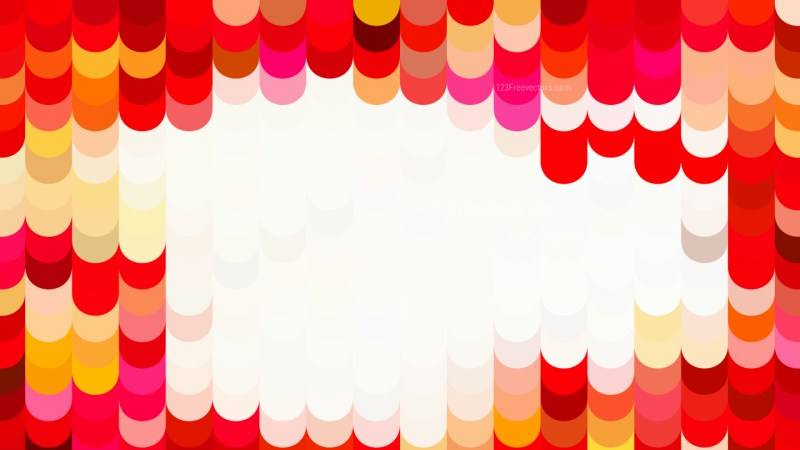 Abstract Red Orange and White Geometric Shapes Background