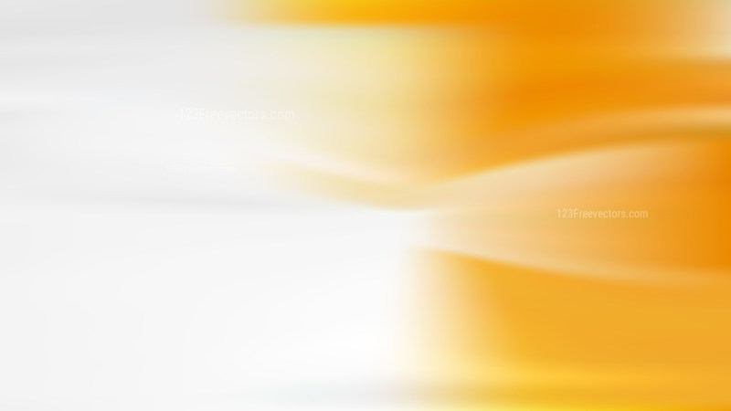 Orange and White Blurred Background Vector Art