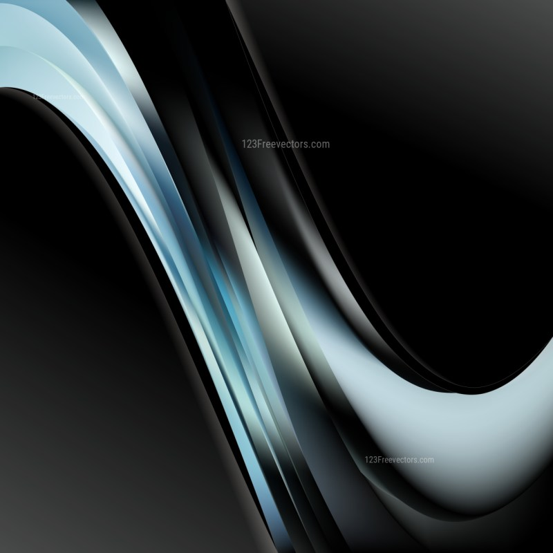 Abstract Black and Blue Wave Business Background Illustration