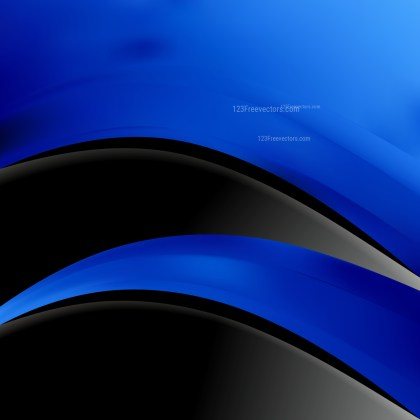 Black and Blue Wave Business Background Vector Art