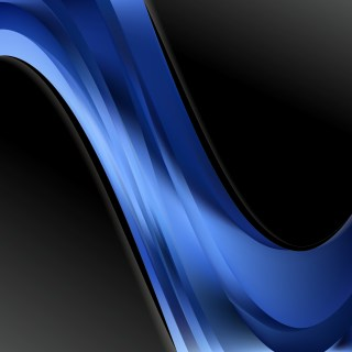 Abstract Black and Blue Wave Business Background