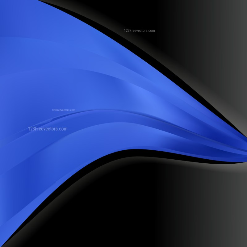 Abstract Black and Blue Wave Business Background Vector Image