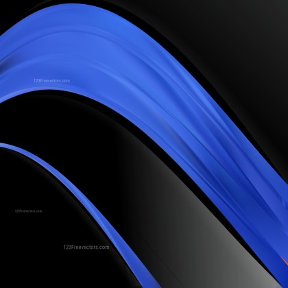 Black and Blue Wave Business Background