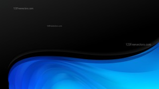 Abstract Black and Blue Wave Business Background Design Template