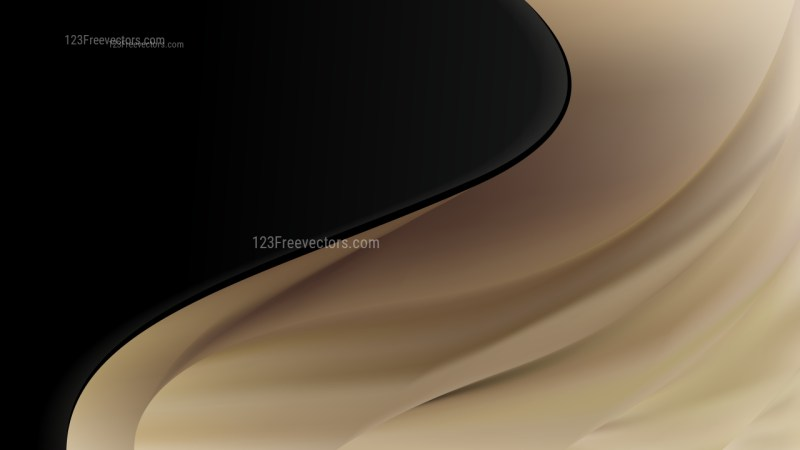 Abstract Black and Brown Wave Business Background Vector Image