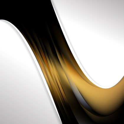Abstract Black and Gold Wave Business Background