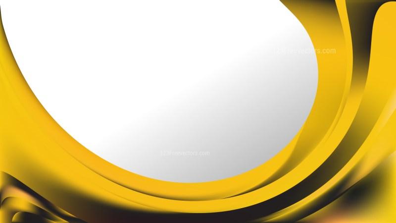 Black and Gold Wave Business Background Vector Illustration